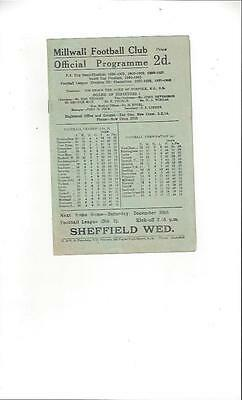 Millwall v Newcastle United Football Programme 1947/48