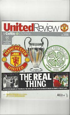Manchester United v Celtic Champions League 2006/07 Football Programme