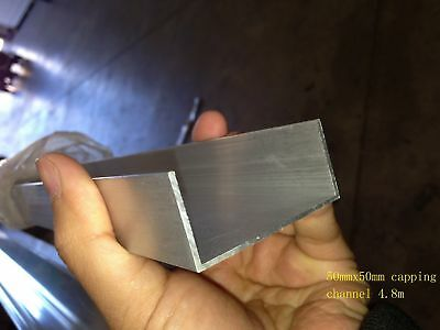 Aluminium Extrusions U C Capping Channel Mill 50mm x 25mm 4.8m Coolroom Panel