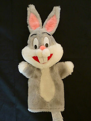 Vtg Bugs Bunny Hand Puppet Character Plush Toy Warner Bros. by Mighty Star 1971