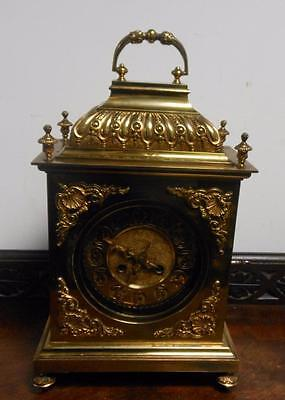 ornate french brass cased bracket clock