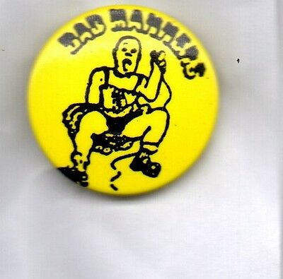 BAD MANNERS BUTTON BADGE - English Ska Band - Special Brew - Ska 'n' B 25mm Pin