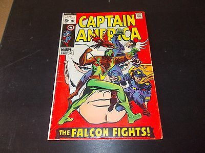 Captain America 118 FN- 2nd appearance of The Falcon Sam Wilson Silver Age 1969