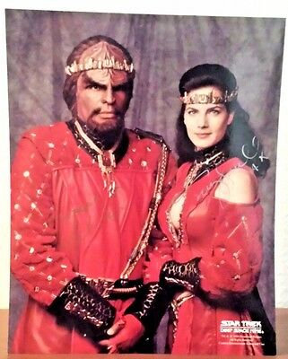 Authentic Star Trek DS9 Michael Dorn and Terry Farrell Autographed Photo