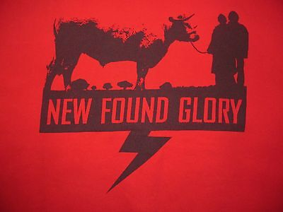 NEW FOUND GLORY ANIMALS ARE YOUR FRIENDS Cow graphic Red cotton T-shirt Men's L