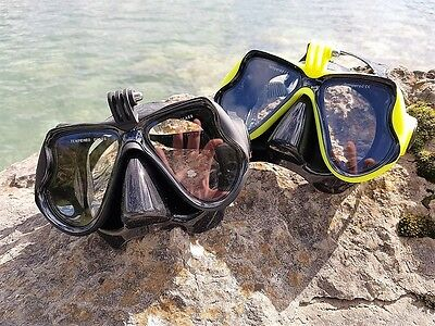 Scuba Diving Mask With GoPro And Sports Camera Attachment