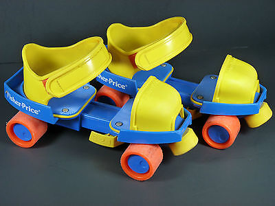 Vintage 1989 Fisher-Price 1-2-3 Grow With Me Roller Skates #2316
