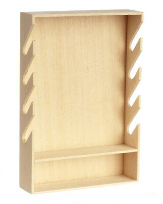 Basswood Gun Rack, Dolls House Miniature, 1:12 Scale Rifle Rack Furniture