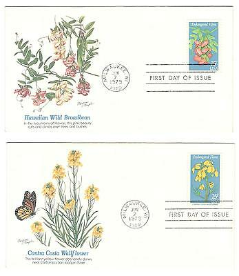 USA fdc x 4 Scott 1783-86 Endangered Flora 1979  USA stamps