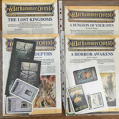 Warhammer Quest PARTS from WHITE DWARF EXPANSIONS Multi-Listing FREE SHIPPING