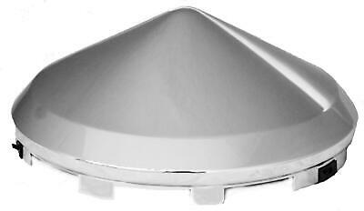 """hub caps(2) front universal cone pointed chrome plated for steel wheel 7/16"""" lip"""