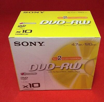Sony DVD - RW Re-Recordable DVD X 10 Pack - New & Sealed