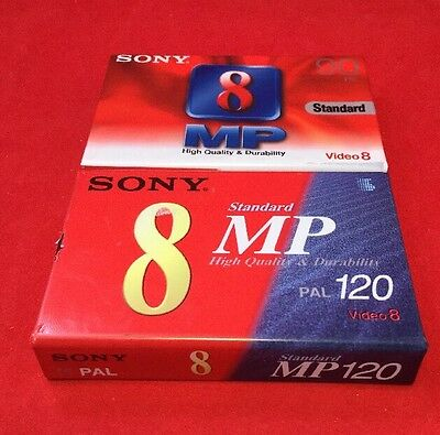 Sony 8 Standard MP Video Cassettes (x2) 90 + 120 PAL New And Sealed