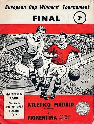 CUP WINNERS CUP FINAL 1962 Atletico Madrid v Fiorentina