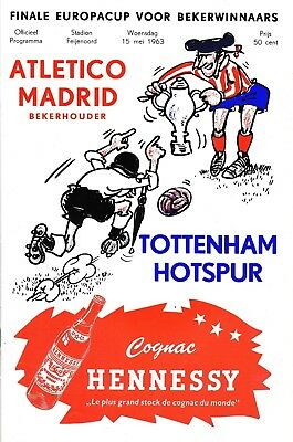 CUP WINNERS CUP FINAL 1963 Tottenham v Atletico Madrid