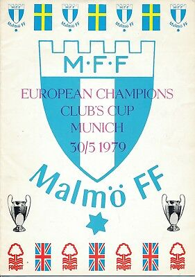 EUROPEAN CUP FINAL 1979 Malmo v Nottingham Forest - MALMO Edition