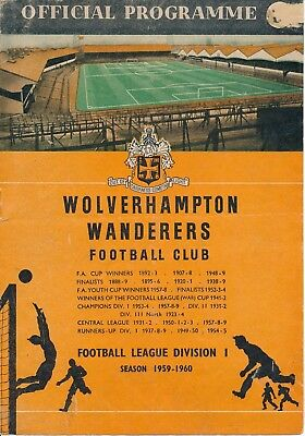 FA CHARITY SHIELD 1959: Wolves v Nottingham Forest
