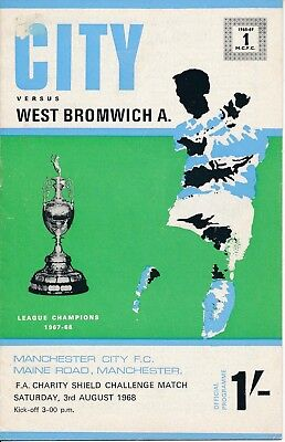 FA CHARITY SHIELD 1968 Man City v West Brom with TOKEN - slight scuff mark