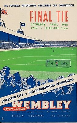 FA CUP FINAL PROGRAMME 1949: Wolves v Leicester City