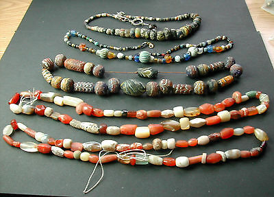 Lot – Ancient Bead Necklaces  &  Strings***rare Collection
