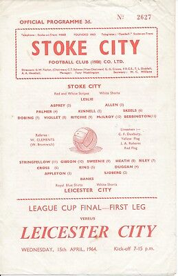 LEAGUE CUP FINAL 1964: Stoke v Leicester RARE 4 page ed
