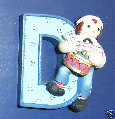 Enesco Raggedy Ann & Andy Figurine- Letter D- New in Box-  RETIRED