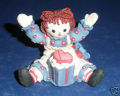 Enesco Raggedy Ann Figurine-New in Box- #709093- Best to Give from the Heart