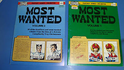 Most Wanted Volume 1 &3 NEW Never Used With Tokens in the Center Fantasy Flight