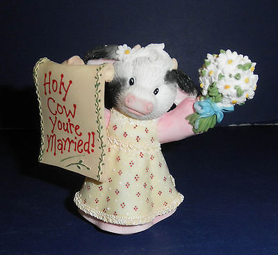 Enesco Mary's Moo Moos-726184- Holy Cow-You're Married- New in Box- RETIRED