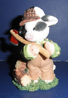 Enesco Mary's Moo Moos -674370-John Deere:Wood You Be Mine-Lumberjack-New in Box