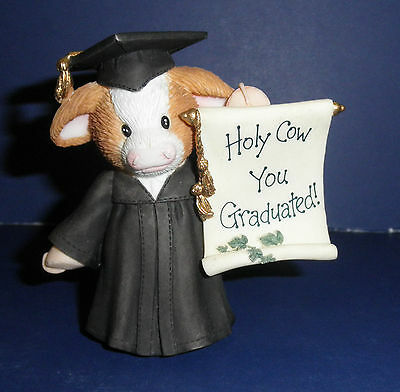 Enesco Mary's Moo Moos -725862- Holy Cow You're Graduated-  New in Box/Retired