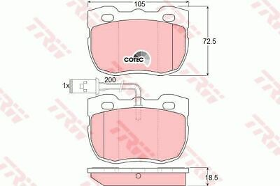 5 YEAR WARRANTY TRW Front Brake Pads Set GDB4450 BRAND NEW GENUINE