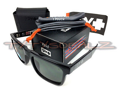 18e440e40a Spy Optic The Fold 673174034864 Black Happy Grey-Green Polarized Sunglasses