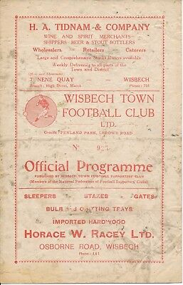Wisbech v Lincoln Reserves (Midland League) 1954/5