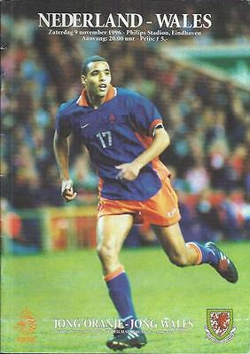 Holland v Wales International Football Programme 1996