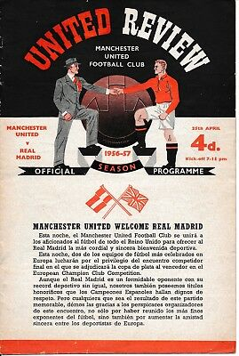 EUROPEAN CUP SEMI FINAL 1957: Man Utd v Real Madrid