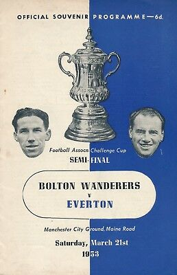 FA CUP SEMI FINAL 1953: Bolton v Everton