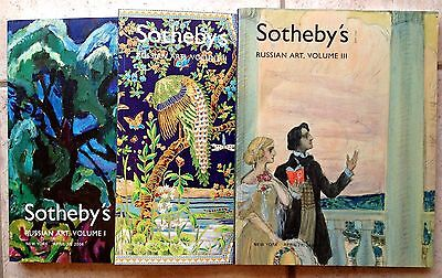 A Set of 3 Sotheby's Auction Catalogs RUSSIAN ART Volumes I 2 3 April 26 2006 NY