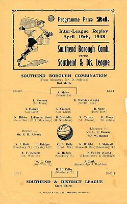 SOUTHEND Borough Combination v District League 1947/8