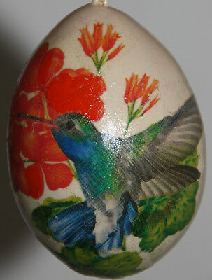 gourd ornament with hummingbird