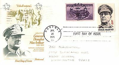 United States Honouring General Douglas MacArthur First Day Cover 1971