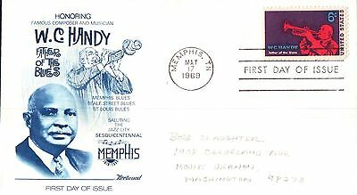 United States Honouring W C Handy First Day Cover 1969