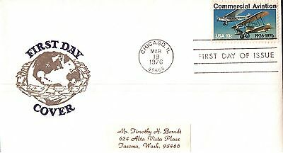 United States Commercial Aviation First Day Cover 1976