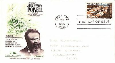 United State Honouring John Wesley Powell First Day Cover 1969