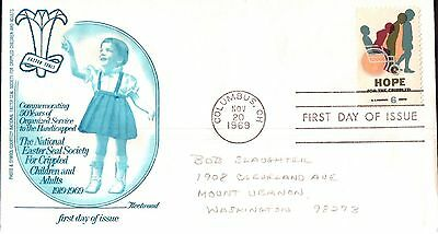 United States Easter Seals Society First Day Cover 1969
