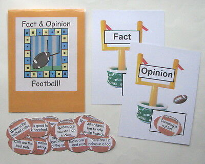 Teacher Made Literacy Center Learning Resource Game Facts & Opinions