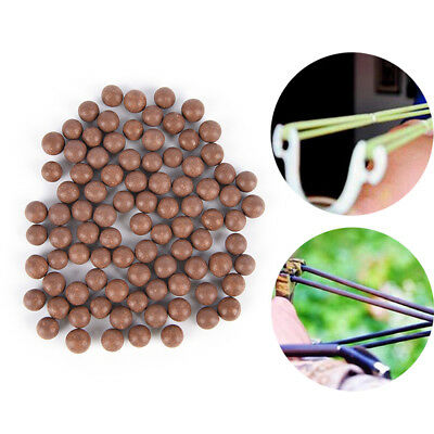 100Pcs Slingshot Beads Bearing Mud Airsoft Ammo Solid Clay Balls Eggs Hunting UK