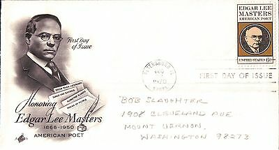 United States Edgar Lee Masters First Day Cover 1970