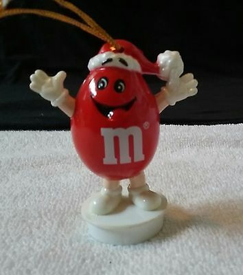 "1988 Red M&M's Christmas Ornament 3"" Plastic ADORABLE 3"" Tall"