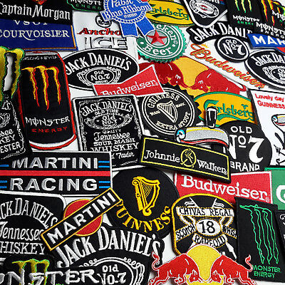 BEER, SPIRITS, ENERGY DRINK LOGO PATCHES - Iron-on Embroidered Patch Collection